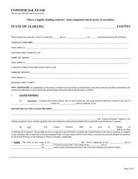 Free Commercial Lease Agreement Forms To Print Alabama Commercial Lease Agreement 3629107924201 Free Commercial