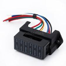 atc fuse block 32v 6 way circuit car automotive blade fuse box block holder for atc ato 1a