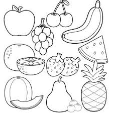 Cute Apple Coloring Pages New Fruit Salad Coloring Cute Fruits