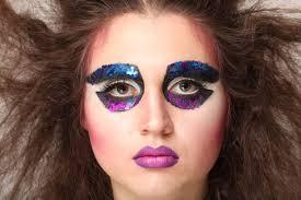 80s reinterpretation artistic makeup