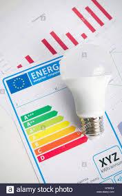 Light Bulb Levels Led Light Bulb On Energy Efficiency Chart Economic Concept