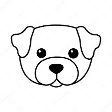 Vettore Cute Dog Kawaii Stile Di Kawaii Cute Dog Vettoriali