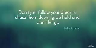 Grab Your Dreams Quotes Best of Dont Just Follow Your Dreams Chase Them Down Picture Quotes 24