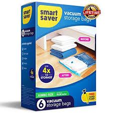 Amazon.com: SmartSaver Vacuum Storage Bags - 6 JUMBO (40