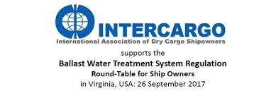 intercargo supports a ballast water treatment system regulation round table session that will be held on 26 september 2017 in virginia usa