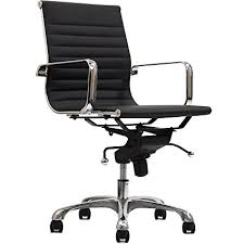 lexmod ribbed mid office. Modway Ribbed Mid Back Chair In Black Vinyl Lexmod Office O
