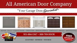 Garage Door Supplier in Riverside, CA | All American Door Company ...