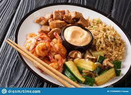 Japanese Hibachi Recipe Of Rice, Shrimp ...