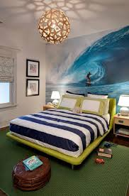A Boy's Tropical Surfer-Themed Bedroom