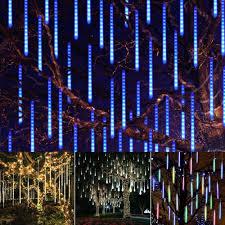 How To Plug In All Christmas Lights Ac110 240v Eu Us Plug Smd2835 Waterproof 50cm Led Meteor Snowfall Tubes String Light Christmas Tree Decoration