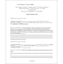 Dr Note Template For Work