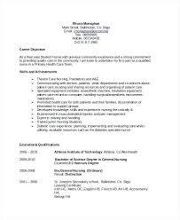 Job Objectives For Resume Career Objectives For Nursing Sample