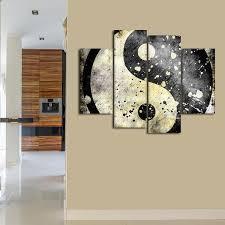 on yin yang canvas wall art with grunge yin yang multi panel canvas wall art elephantstock