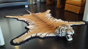 antique registered taxidermy tiger rug prior to endangered classification for 4