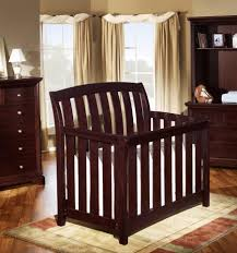 Westwood Design Brookline Convertible Crib with Guard Rail in Chocolate  Mist - Babies