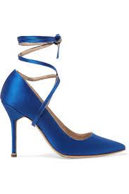 Blue Designer Heels Blue Designer Bridal Shoes Arabia Weddings