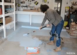 garage floor paint before and after. Beautiful After How To Paint A Garage Floor With Behr 1part Epoxy  Thrift Diving To Garage Floor Paint Before And After O