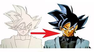 Comment Bien Colorier Black Goku Youtube