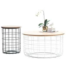 basket coffee table h m s remaining round cage coffee table round wire basket coffee table