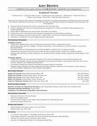 Resume Format For Teachers Elegant Maths Teacher Resume For Freshers