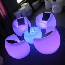 From LED bar chairs to LED lounge balls, LED cocktail tables and LED bars,  you name it, you rent it. Our swashbuckling LED furniture rental article