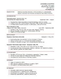 Resume For College Student Seeking Internship