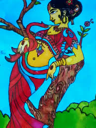 glass painting designs of las outline arts and crafts glass painting girl with swan