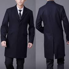 autumn and winter male wool coat europe slim fit black single ted woolen jacket for mens