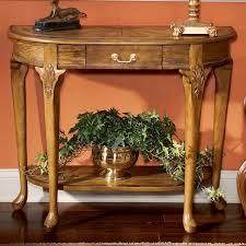 vintage console table. Vintage Oak Console Table .