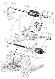 1998 1999 club car ds gas or electric club car parts & accessories Club Car Golf Cart Parts Diagram steering gear assembly club car golf cart parts manual