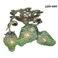 french 3 light close ceiling wine chandelier fixture and g shades ant 657 for
