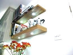 shelf with lights underneath floating shelves wall l black she diy led