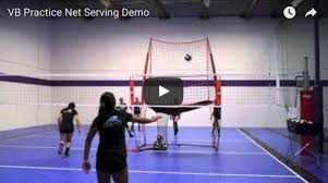 chair volleyball net. bownet volleyball practice net serving demo video chair 2