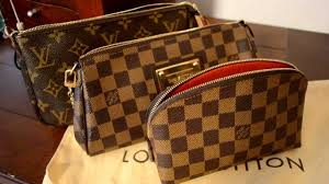 parison between louis vuitton accessories pochette eva cosmetic bag what fits inside you