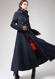 military coat womens coats cashmere coat long coat dress coat handmade