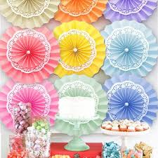 5pcs lot 8 20cm tissue paper fan flowers for wedding birthday party