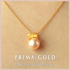 one pearl pure gold pendant 24k pure gold gold yellow gold pearl pendant top lady present gift birthday primagold