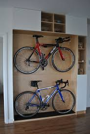 Excellent Wooden Platform Design For Home Bikes Storage Ideas Combined With  Cubby Holes Accessories Storage As Great Home Indoor Bikes Storage Desi