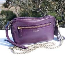 Coach Legacy Leather Flight Bag 25362 Violet