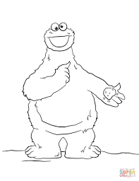 Cookie Monster Coloring Page Cookie Monster Coloring Page Free