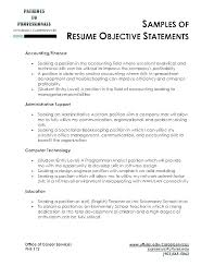 Examples Of Good Objectives For Resumes Best of Examples Of Good Objectives For Resumes Sample Of Objective In