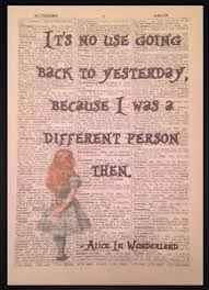 alice in wonderland e vine dictionary book page print wall art picture