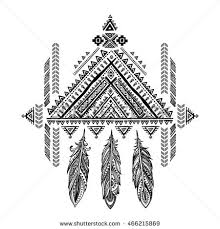 Aztec Dream Catcher Tattoo Vector Aztec Mexican Ethnic Ornament Dream Stock Vector 100 29