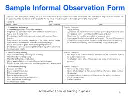teacher performance evaluation system data sources ppt sample informal observation form directions this form can be used by the evaluator to document