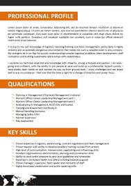 Supply Chain Resume Resume Profile Examples Logistics New Bunch Ideas Logistics 84