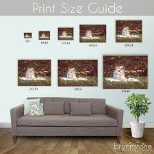 wall art frame sizes