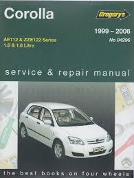 Toyota Corolla 1999 2006 Gregorys Service Repair Manual - sagin ...