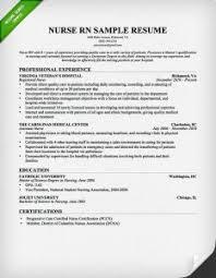 Experienced Nurse Resume Sample Musiccityspiritsandcocktail Com