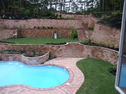 backyard designs with retaining walls theradmommy com
