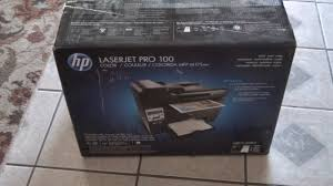 Hp Laserjet 100 Color Printer M175nw Unboxing Youtube